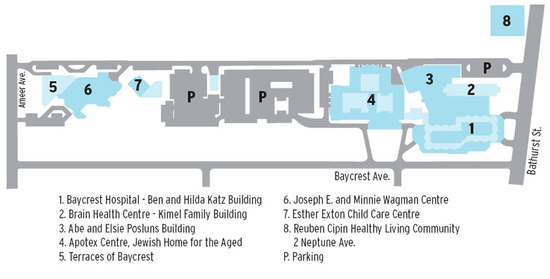 Holy Family Campus Map.Baycrest Centre Baycrest