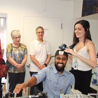RRI trainees teach older adults about brain research